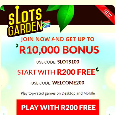 slots garden casino zar